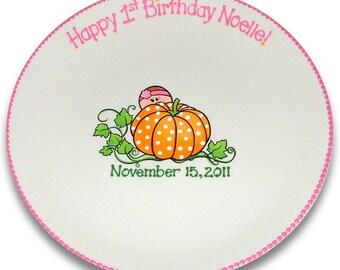 My Little Pumpkin First Birthday Signature Platter