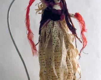 Custom Gothic Supernatural Soft Sculpture Art Doll