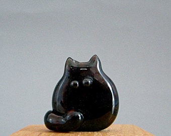 Cat Bead Handmade Lampwork Focal - Franklin  FatCat
