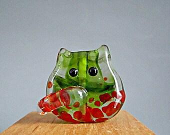 Cat Bead Handmade Lampwork Focal - Wanda FatCat