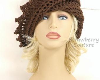 Crochet Hat Womens Hat Trendy, Womens Crochet Hat, Crochet Beanie Hat, Brown Hat, Winter Hat, LAUREN Beanie Hat for Women, Crochet Hat