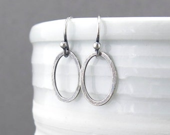 Tiny Silver Earrings Dangle Silver Earrings Simple Everyday Earrings Geometric Jewelry Minimalist Jewelry Handmade Jewelry - Single Aubrey