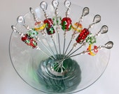 Stainless Steel Appetizer Picks - Holiday Medley Set of 10