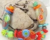 FLIRTY FUN Handmade Lampwork Bead Bracelet