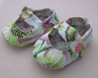 Cotton mary jane baby shoes