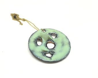 Copper enamel pendant