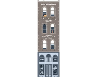 City Wedding Invitations: Tall - City Buildings Wedding Card