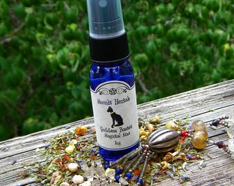 Goddess Bastet Magickal Mist - Egyptian Cat Goddess Bast, Protection, Fertility, Sensual Pleasure, Playfulness, Wisdom, Pagan Spray, Wicca