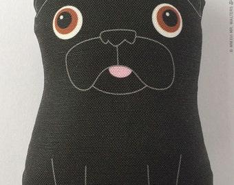 Buddy - Small Black Pug Plush