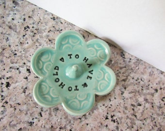 To Have and To Hold - Ring Dish - Soft Spa Green - In Stock - Gift box included