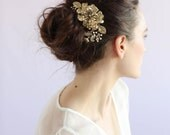 Bridal hair comb - Modern floral bouquet hair comb - Style 661 - Made to Order