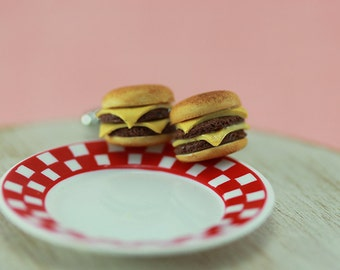 Juicy Cheeseburger Cufflinks