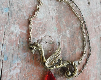 Magical Dragon Necklace, Daenerys Targaryen, Game of Thrones, Harry Potter and the Goblet of Fire inspired, Once Upon a Time...