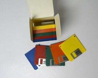 Fujifilm Floppy Disks . IBM formatted . 25 colorful disks in original box