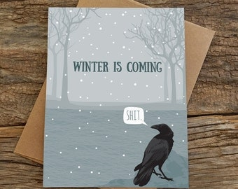 funny holiday cards / winter is coming