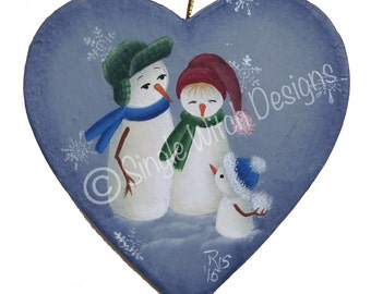 What Snowball?  Christmas Ornament - Decorative Painting pattern ePacket