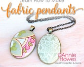 Cloth Fabric Cabochon Jewelry Tutorial Instant Download