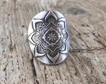 Mehndi ring, recyled sterling silver, handmade in your size!