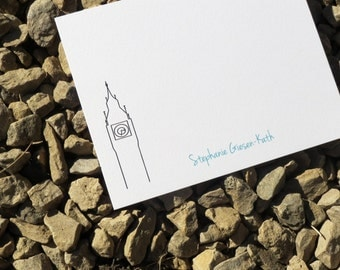 Big Ben Personalized Stationery - London - Personalized Stationery - Notecards and Notepads