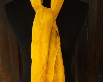Silk Scarf, Silk Habotai, Hand Dyed