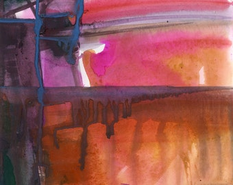 Introspection No.8 ... Original Abstract Watercolor painting by Kathy Morton Stanion EBSQ