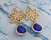 Blueberry Star Chandelier Earrings