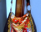 Gypsy bag in red floral velvet