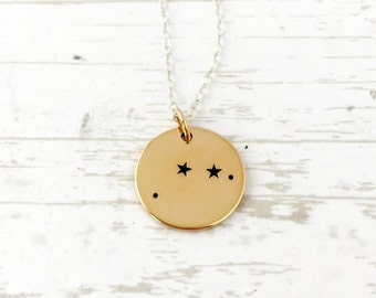Aries Necklace, Zodiac Jewelry, Zodiac Necklace, Constellation, Aries Jewelry, Stars, April Birthday, Christmas Gift for Her