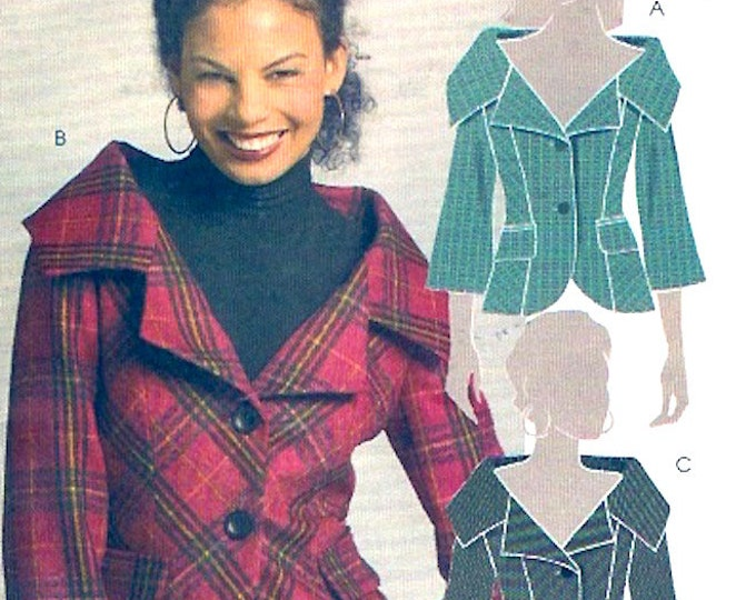 Fall Autumn jacket sewing pattern Lined evening wear coat McCalls 5478 Size 12 to 20 UNCUT