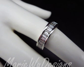 4ct 14k Baguette Diamond Eternity Wedding Anniversary Band-US Size 6