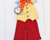 Boys White Rabbit Costume  Baby or Toddler Boys Alice in Wonderland Party