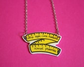 Measuring Tape Mantra Necklace