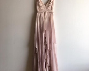 SAMPLE SALE Silk Gauze Ombre Wedding Gown - The Clementine by Cleo and Clementine