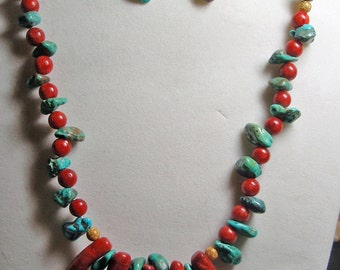 Chili Peppers Necklace and Earrings