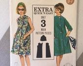 "Beach Dress Vintage 1960s Butterick 3227 Size 18 Bust 38"" - WV - 1960s Butterick / 60s Butterick / 1960s Pattern"