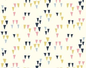 ORGANIC fabric, Wild Land by Birch Fabrics- Arrowhead in Cream, Boho fabric, Adventure, Arrow fabric, Nursery, Choose your cut