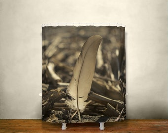 Bird shower curtain etsy for Bird themed bathroom accessories