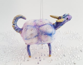 Felted Dragon Mobile, Small Cloud Dragon