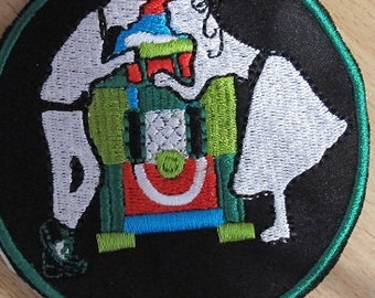 Juke Box Rock n Roll Embroidered  Iron On Patch