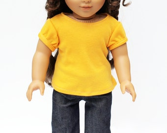 Fits like American Girl Doll Clothes - The Golden Autumn Collection, Dark Blue Denim Jeans, Made To Order