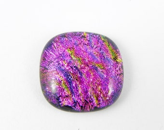 Dichroic Fused Glass Cabochon - Pink - 1746 - 24mm x 25mm