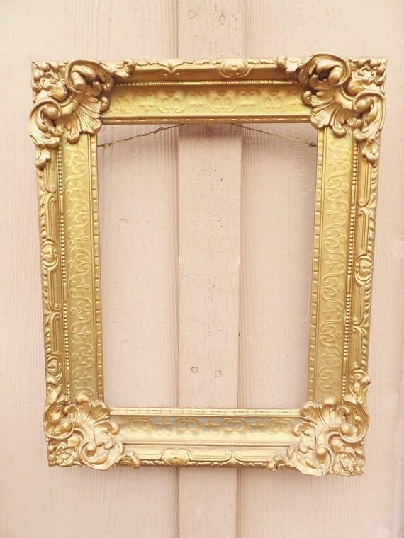 Antique Gold Frame Plaster And Wood Frame Ornate Frame