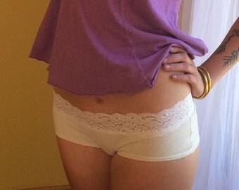 Lace Trim || Soft Hemp & Organic Cotton || Bikini Panties ||