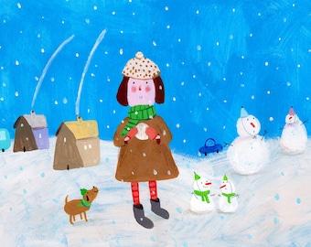 Winter Original Illustration