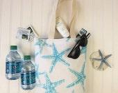 Bridesmaid Totes - Bridesmaids Bags - Wedding Welcome Bags - Bridesmaid Gift - Starfish Mini-totes - Beach Wedding Favors - Starfish Wedding