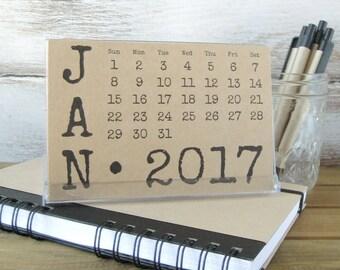 2017 Desk Calendar with Stand 2017 Calendar Gift for Coworker Teacher Gift Gift for Mom Girlfriend Gift Stocking Stuffer Hostess Gift