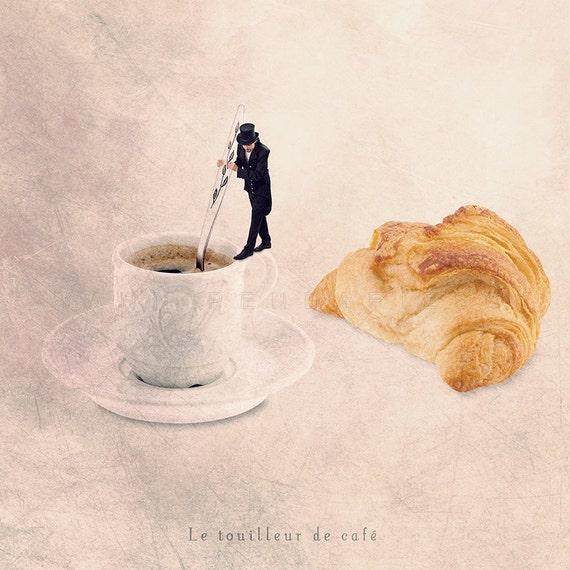 Food Photography, Parisian, Home Kitchen, Kitchen art , French parisian decor, Coffee Photo, Cafe print, Breakfast