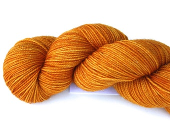 Happy Marigold!!--hand dyed sock weight yarn, merino/nylon  (460yds/100gr)