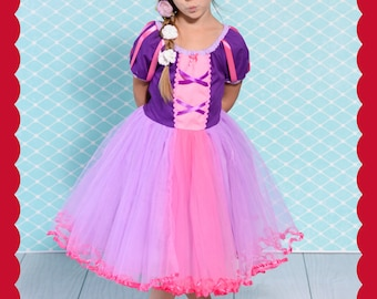 RAPUNZEL dress, Rapunzel Costume, princess Dress, Princess costume, Lover Dovers, Rapunzel birthday party,