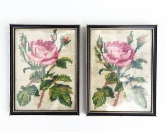 Pair of vintage wall tapestries